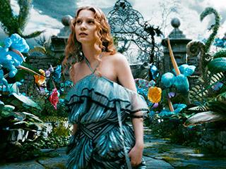 Alice in Wonderland, Mia Wasikowska | ADVENTURES UNDER GROUND Mia Wasikowska as the titular heroine in Tim Burton's Alice in Wonderland