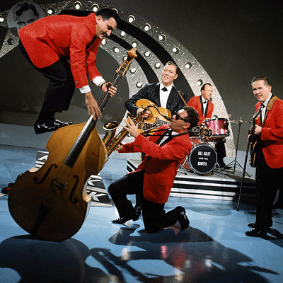 Bill Haley & His Comets Sounds harmless enough now, but when introduced in the film Blackboard Jungle , the very first No. 1 rock single…