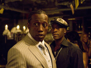Wesley Snipes, Brooklyn's Finest | COP AND CRIMINAL Wesley Snipes is a drug lord and Don Cheadle is an undercover cop in Brooklyn's Finest