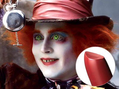 Johnny Depp, Alice in Wonderland | JOHNNY DEPP'S LIPSTICK IN ALICE IN WONDERLAND You don't have to go down the rabbit hole for this one: To complete Depp's Mad Hatter look,…