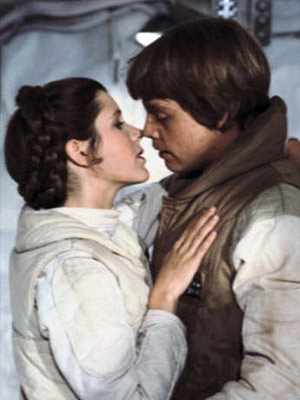 Mark Hamill, Star Wars: Episode V - The Empire Strikes Back | LUKE and LEIA in The Empire Strikes Back ''It was only after Return of the Jedi when we realized all that Luke and Leia lip-smacking…
