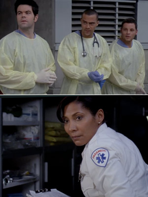 Grey's Anatomy   Grey's Anatomy recap: Doctors, orders A couple of the useless dudes of the moment — Alex, that Charles guy from Mercy West, the ex-Chief —…