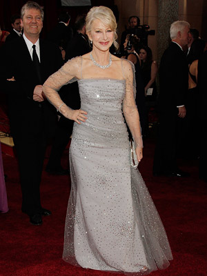 Helen Mirren | HELEN MIRREN Proving herself (yet again) a fashion force to be reckoned with, the Best Actress nominee glittered in Badgley Mischka. Grade: A