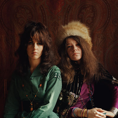 Grace Slick, Janis Joplin | GRACE SLICK AND JANIS JOPLIN (1967) Marshall shot the two singers for an article in Teen Set magazine about the ''Two Queen Bees of San…