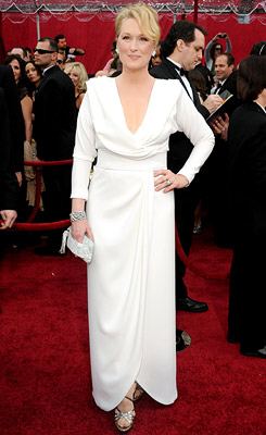 Meryl Streep | MERYL STREEP She may have 16 Oscar nods under her belt, but Streep looked fresher than ever in this crisp white number, designed by Project…