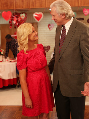 Parks and Recreation, Amy Poehler | AMY POEHLER'S DRESS FROM PARKS AND RECREATION Though she'd rather have been celebrating Galentine's Day, Leslie Knope (Poehler) still opted for a traditional hue in…