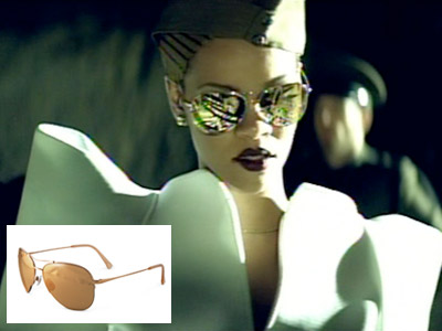 Rihanna | RIHANNA'S SUNGLASSES IN HER MUSIC VIDEO FOR ''HARD'' The singer plays an haute-couture-clad drill sergeant, so naturally her shades are coated in 24k gold. The…