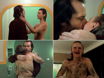 The Shining, Jack Nicholson | JACK TORRANCE and BATHTUB LADY in The Shining ''Jack Nicholson and that bathtub lady from The Shining . Ugh.'' — Trav