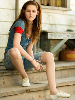SITTIN' ON THE STOOP Kristen Stewart hangs out on the front porch in The Yellow Handkerchief