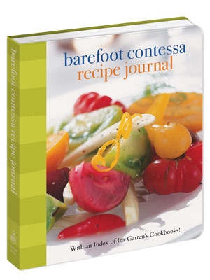 + BOOKS FOR COOKS BAREFOOT CONTESSA RECIPE JOURNAL ($15.99) An index to all of Ina Garten's famed cookbooks that also serves as a diary.
