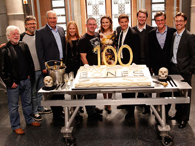 Bones, Emily Deschanel   ''Showrunner / Executive Producer Hart Hanson has been known to make repairs to his ancient FJ40 in front of the production office.'' Other interesting tidbits…