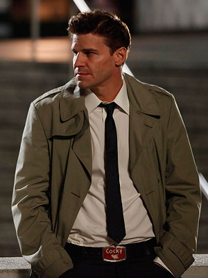 Bones, David Boreanaz   ''Every time David Boreanaz is on camera he has craps dice, a brass Zippo lighter and a Saint Christopher's Medal in his pants pocket (unless…
