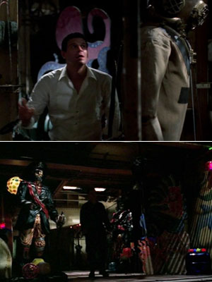Bones   ''Booth escapes from the yellow submarine and finds himself inside an old ship decorated with mermaids and pirates. That part of the ship was actually…