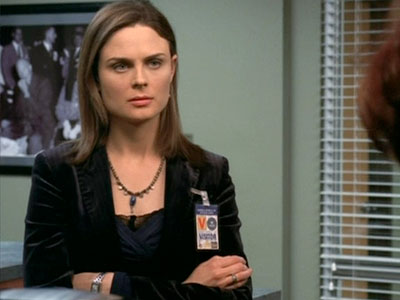 Bones, Emily Deschanel   ''There are pictures of three American Presidents eating in the FBI kitchen: Nixon eating Chinese food, Ike eating a chicken leg and Kennedy eating a…