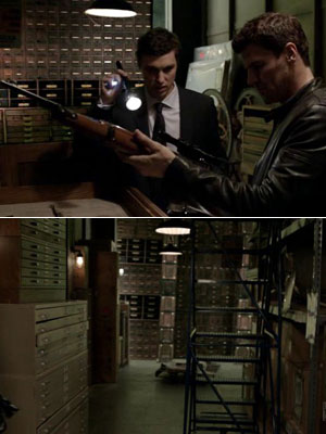 Bones   ''The walls from the ship in season 4's 'The Hero in the Hold' were reconfigured to create the Jeffersonian Basement Storage (where the rifle was…