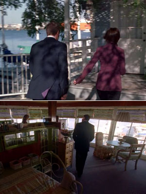Bones   ''Patricia's cottage along the beach in season 4's 'The He in the She' was a decrepit, defunct fish restaurant redesigned (and cleaned!)'' Bonus fact: ''Because…