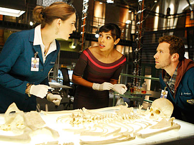 Bones, Emily Deschanel | ''The configuration of specific features of the skull and the angle of the ilia (pelvic bones) are the two ways that the gender of the…