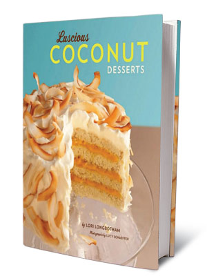 + BOOKS FOR COOKS LUSCIOUS COCONUT DESSERTS Lori Longbotham ($19.95) An array of mouthwatering treats from a self-described coconut addict.