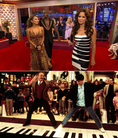 Dancing with the Stars | BROOKE BURKE: PIANO WOMAN Brooke's dress channeled either the giant piano from Big or Mugatu from Zoolander . Why not both?