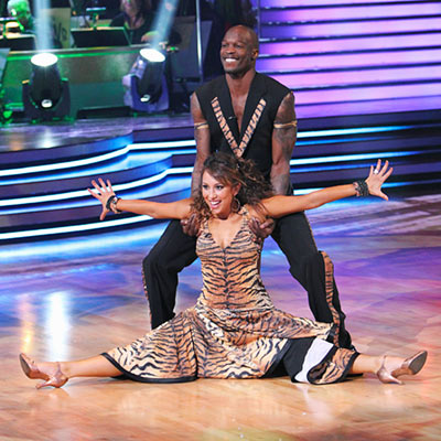 Dancing with the Stars | CHAD OCHOCINCO AND CHERYL BURKE: QUICKSTEP To really be faithful to The Jungle Book , Chad could have worn red trunks like Mowgli and Cheryl…