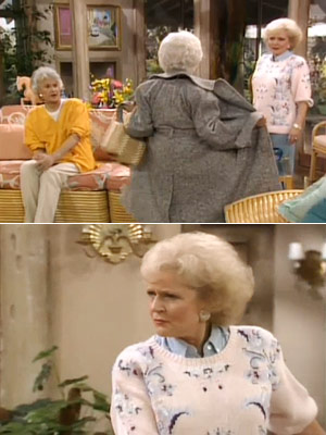 The Golden Girls, Bea Arthur, ...   Season 3, episode 13: ''The Artist Dorothy, Blanche, and Rose discover that they've each posed nude for the same artist Rose : Sophia, what are…