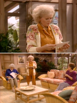 The Golden Girls, Bea Arthur, ...   Season 6, episode 10: ''Girls Just Wanna Have Fun...Before They Die'' Everyone takes advice from Blanche. Bad idea. Rose : I just got a special…