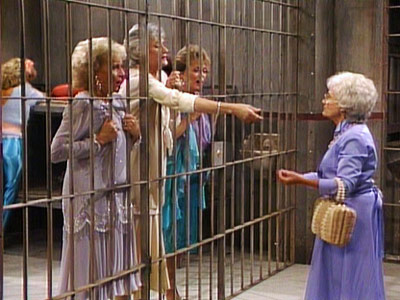 The Golden Girls, Bea Arthur, ...   Season 2, episode 2: ''Ladies of the Evening'' The girls get swept up in a prostitution bust. Yes, really. Rose : Downtown? He means jail!…