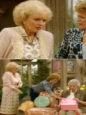 The Golden Girls, Bea Arthur, ...   Season 3, episode 9: ''A Visit from Little Sven'' Rose's cousin Sven visits, and accidentally falls for Blanche Rose : I got caught up at…