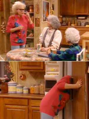 The Golden Girls, Bea Arthur, ...   Season 6, episode 18: ''Melodrama'' Rose tries being a TV reporter Dorothy : Rose, leave the glasses in the refrigerator, close the door and keep…