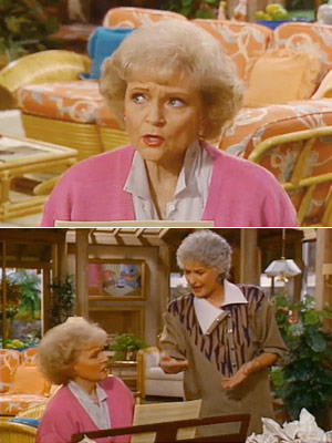 """The Golden Girls, Bea Arthur, ...   Season 2, episode 6: ''Family Affair"""" Rose and Dorothy work on a jingle for a contest Dorothy : Yeah, but the lyrics don't make any…"""
