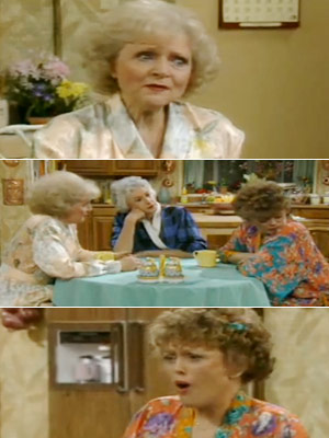 The Golden Girls, Bea Arthur, ...   Season 3, episode 23: ''Mixed Blessing'' Dorothy's son surprises her with news of his engagement to a middle-aged black woman Rose : The same thing…
