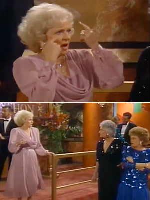 The Golden Girls, Bea Arthur, ...   Season 3, episode 2: ''One for the Money'' Everyone reminisces, cuing various flashbacks. Then Blanche, Dorothy, and Rose all show up at the same dance…