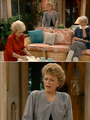 The Golden Girls, Bea Arthur, ...   Season 4, episode 6: ''Sophia's Wedding'' Sophia reconnects with an old friend, and Rose forms an Elvis fanclub Blanche : Do you know what I…