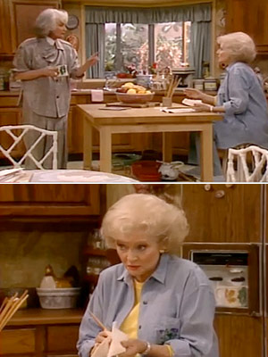 The Golden Girls, Bea Arthur, ...   Season 5, episode 23: ''All Bets Are Off'' Rose starts painting Rose : I think it's impossible to paint autumn in St. Olaf. Dorothy :…