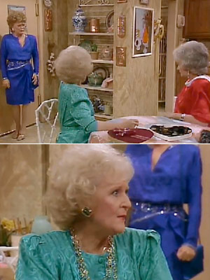 The Golden Girls, Bea Arthur, ...   Season 4, episode 15: ''Valentine's Day'' The girls find themselves dateless on Valentine's Day Dorothy : Blanche, Steve called and canceled your date, didn't he?…