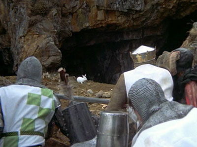 Monty Python and the Holy Grail | Rabbits tend to be quiet grass-eating pacifists. Not this homicidal psycho monster bunny, which uses its nasty, big, pointy teeth to decapitate any knights who…