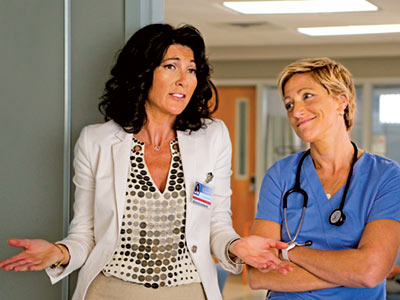 Nurse Jackie, Edie Falco | Outstanding Comedy It's a doctor show about a nurse and a comedy about agony — yeah, Nurse Jackie zigs where everything else zags. All Saints…