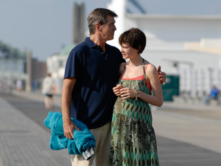 The Greatest | TISSUE ALERT Pierce Brosnan and Carey Mulligan share one of many teary moments in The Greatest .