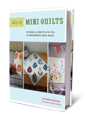 + FOR CRAFTY TYPES WHIP UP MINI QUILTS Kathreen Ricketson ($24.95) A guide to making offbeat pint-size quilts for pillows, wall art.