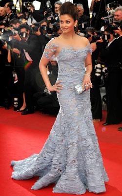 AISHWARYA RAI With all the volume in her Elie Saab gown and her bouffant, the Bollywood star?s look fell a little flat.