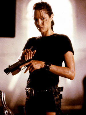 Lara Croft Tomb Raider: The Cradle of Life, Angelina Jolie | ANGELINA JOLIE as Lara Croft TOMB RAIDER Ultimate Hottie Moment: The gun belt on the hips may be her signature look, but her fluid moves…