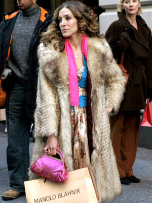 Sarah Jessica Parker, Sex and the City | Carrie's love for her muskrat coat makes for a serious fur pas.