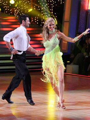 Dancing With the Stars | ERIN ANDREWS AND MAKSIM CHMERKOVSKIY: WORST Week 1: Cha Cha Cha (score 21) That was a LOT of yellow fringe for one opening Cha Cha.…