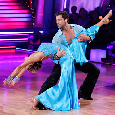 Dancing With the Stars | ERIN ANDREWS AND MAKSIM CHMERKOVSKIY: VIENNESE WALTZ Those are her waltz pants...