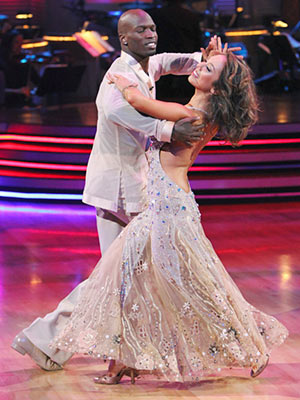 Dancing With the Stars | CHAD OCHOCINCO AND CHERYL BURKE: WALTZ If a chandelier came to life, it would be Cheryl.