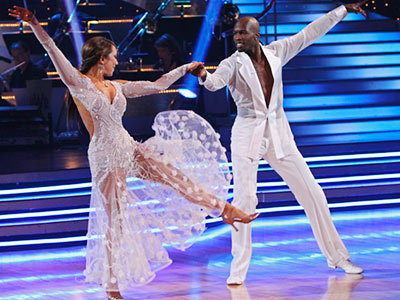 Dancing With the Stars | CHAD OCHOCINCO AND CHERYL BURKE: VIENNESE WALTZ Now we know what they'll wear if they get married!