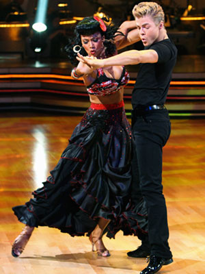 Dancing With the Stars | NICOLE SCHERZINGER AND DEREK HOUGH: BEST Week 8: '50s Paso Doble (30) During ''Era Night,'' those silly judges thought they could stump Johnny Quest lookalike…
