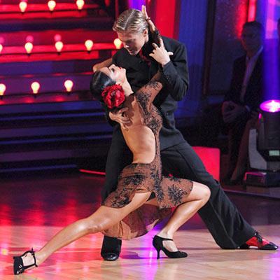 Dancing With the Stars | NICOLE SCHERZINGER AND DEREK HOUGH: ARGENTINE TANGO Classic, basic, beautiful. Hidden gems: Derek's shoes.