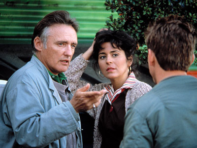 Dennis Hopper, Colors | Colors (1988) Hopper stays behind the camera for this gritty slice of urban thug life. Sean Penn and Robert Duvall play a pair of mismatched…