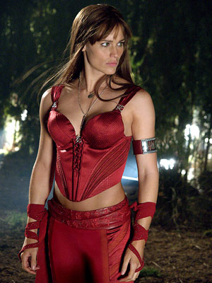JENNIFER GARNER as Elektra ELEKTRA Ultimate Hottie Moment: We wouldn't stand a chance against those ripped arms and balletic acrobatics, but somehow, watching her artfully…